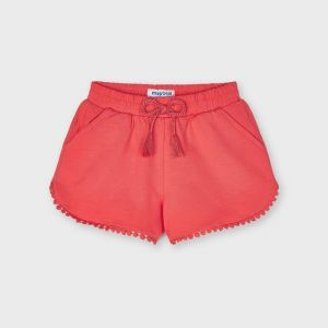 Mayoral short 0607 chenille sweat coral