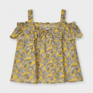 Mayoral blouse 03195 mustard blouse