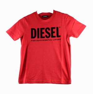 Diesel Tshirt 00J4P6 tjustlogo rood