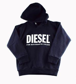 Diesel sweat  00J4PP division logo zwart