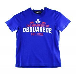 Dsquared2 Tshirt DQ0497 Relax kobalt