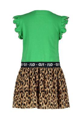 FLO Dress F003-7813  panter plisse