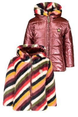 Flo baby reversible  jacket F007-7250 stripe