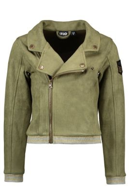 FLO Biker  F009-5355 neopreen suede army