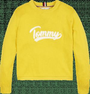 Tommy Hilfiger trui KG0KG05523 logo geel