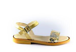 beberlis sandaal 21384-A goud print