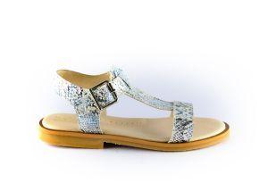 beberlis sandaal 21326-B zilver snake