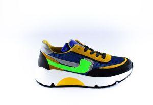 Rondinella sneaker 11713-H Multi blauw groen