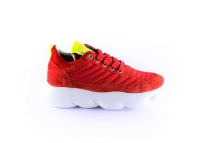 Red Rag Sneaker 13063 Red fanta op witte zool