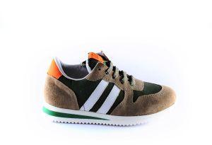 Clic sneaker CL-20332 Beige groen stripe wit