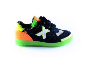 Munich sneaker 1514194  blauw oranje wit x