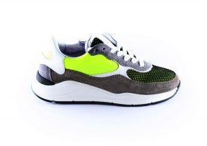 Hip Sneaker H1700-15CO-AC Grijs geel groen