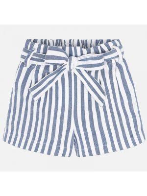 Mayoral short 3278 stripe white blue