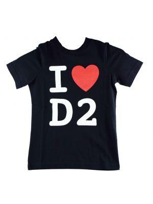 Dsquared2 tshirt DQ03WF-D00WY zwart
