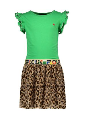 FLO Dress   F003-5816 panter plisse