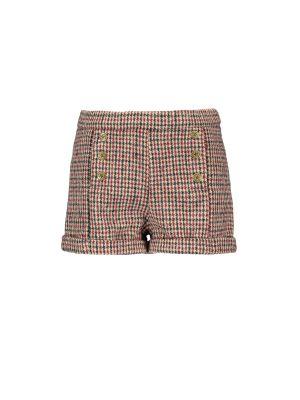 FLO short   F909-5605  wool check