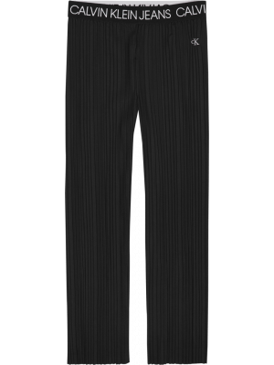 Calvin Klein plisse pants IG0IG00527 zwart