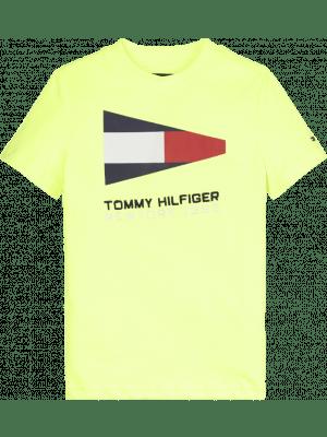 Tommy Hilfiger Flag Tee KB0KB05628 Geel