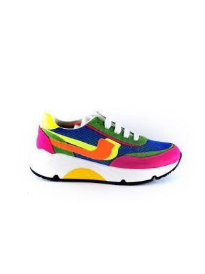 Rondinella  sneaker 11713 bordo  neon geel