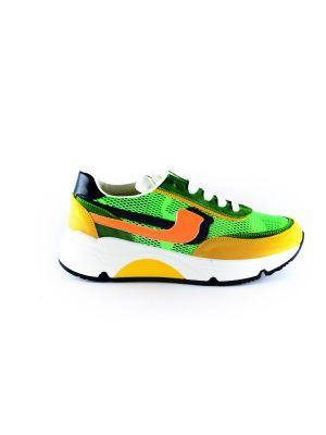 Rondinella  sneaker 11713 Groen oranje