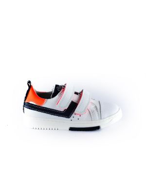 Clic sneaker CL-9750 wit blauw oranje