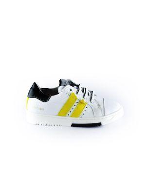 Clic sneaker CL-9752 wit geel