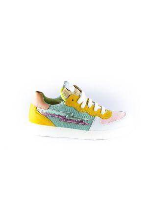 Clic sneaker CL-20110 wit rose oker