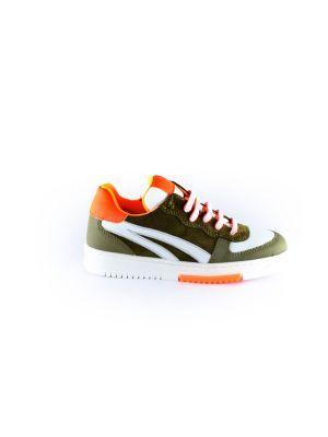 Clic sneaker CL-20119 khaki oranje
