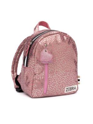 Zebra rugzak 811104 S  pink metallic Leo