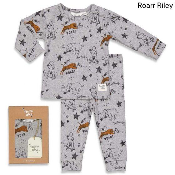 Feetje Pyjama  505.00048 Roar grijs melange