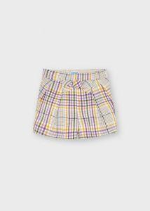 Mayoral short 4209 plaid shorts lila beige