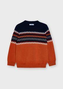 Mayoral sweater 4355 Jacquard orange