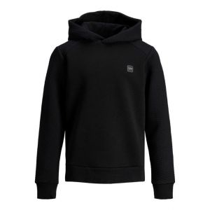 Jack&Jones hoodie jcopower 12199035 rib zwart