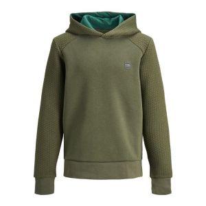 Jack&Jones hoodie jcopower 12199035 rib groen