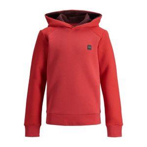 Jack&Jones hoodie jcopower 12199035 rib rood