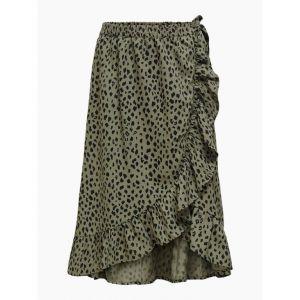Only skirt Konlino 15232792 fake wrap maxi khaki