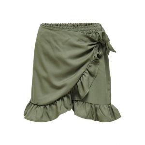 Only skirt Konlino 15232793 fake wrap khaki