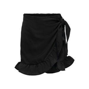 Only skirt Konlino 15232793 fake wrap zwart