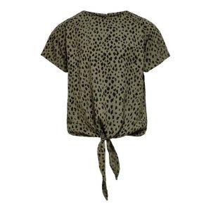 Only Tee Kondanielle 15234535-K knot top leo khaki