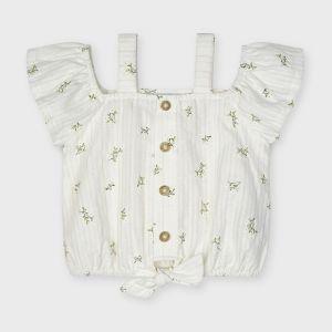Mayoral top 03190 patterned blouse knoop