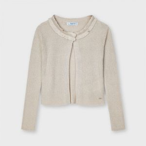Mayoral vest 03325 beige lurex vest
