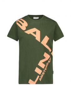 Ballin tshirt 21017101 Army oranje