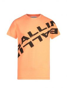 Ballin tshirt 21017103 oranje  zwart