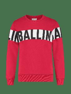 Ballin sweater 21017303 Red met witte balk