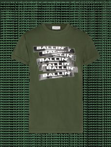 Ballin Tshirt 21037134 logo banners groen