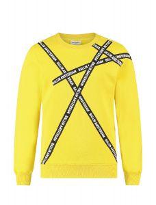 Ballin sweater 21037321 geel  logo banners