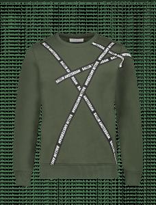 Ballin sweater 21037331 Army groen  logo banners