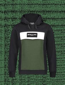 Ballin hoodie 21037334 zwart groen balk