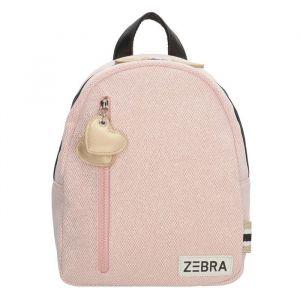 Zebra rugzak 826605 zacht roze glitter