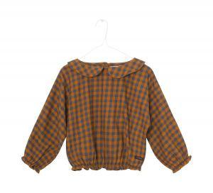 A Monday in Copenhagen blouse 440 check bruin